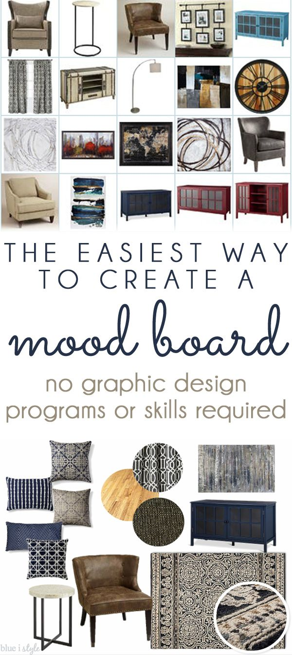 decorating with style} The Easiest Way to Create a Mood Board ...