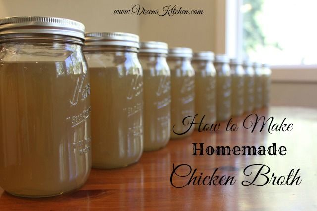 How to make your own chicken broth or stock! It's so easy! - vixenskitchen.com