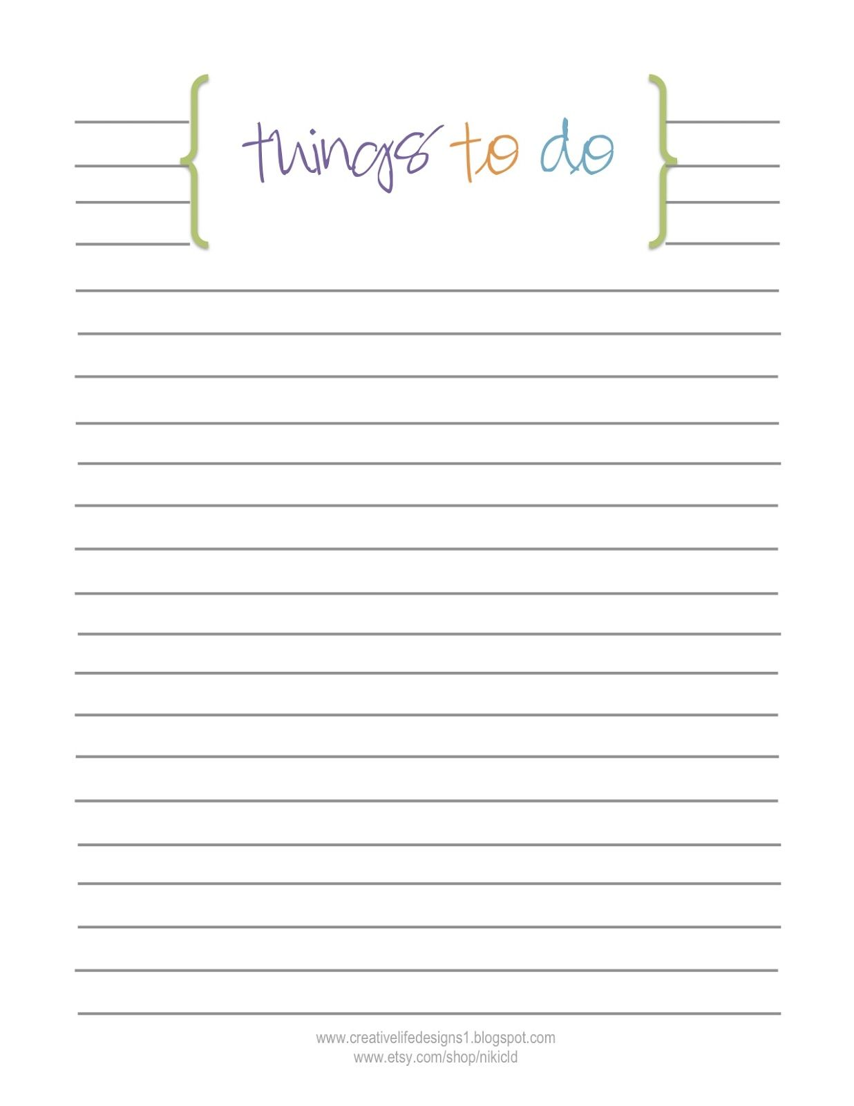 FREE to do list printable by creative life designs | {planners and ...