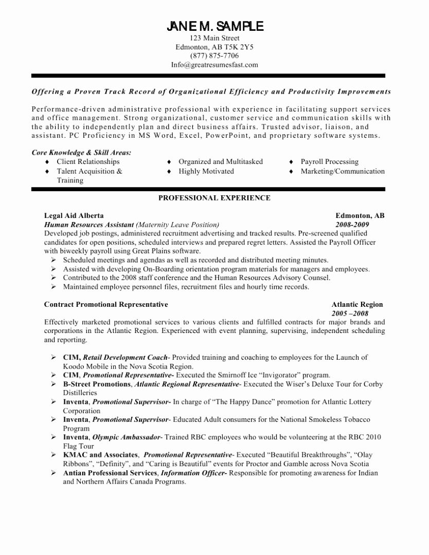 Human Resource Resume Templates Lovely Human Resources