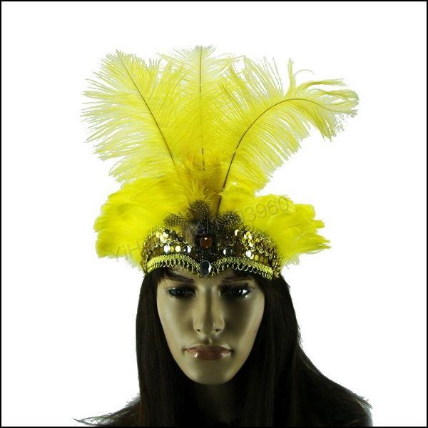 tocados con plumas para carnaval - Buscar con Google  94e47937898