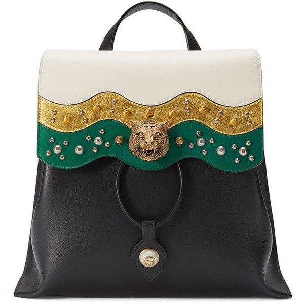 5477e7bdbc6 Gucci Malin Medium Studded Leather Backpack ( 2