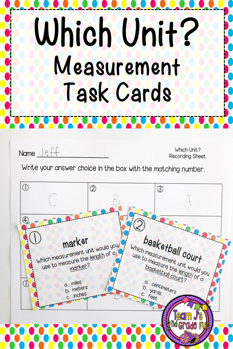 Which Unit Measurement Task Cards Provides Practice Selecting The Best To Measure Diffe Items Includes Inches Feet Yards Miles Centimeters