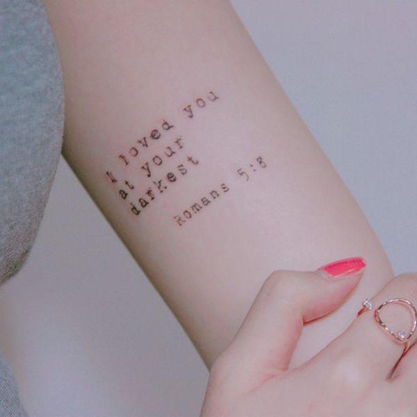 Versiculos De La Biblia Tatuaje S tatuajes del versículo bíblico
