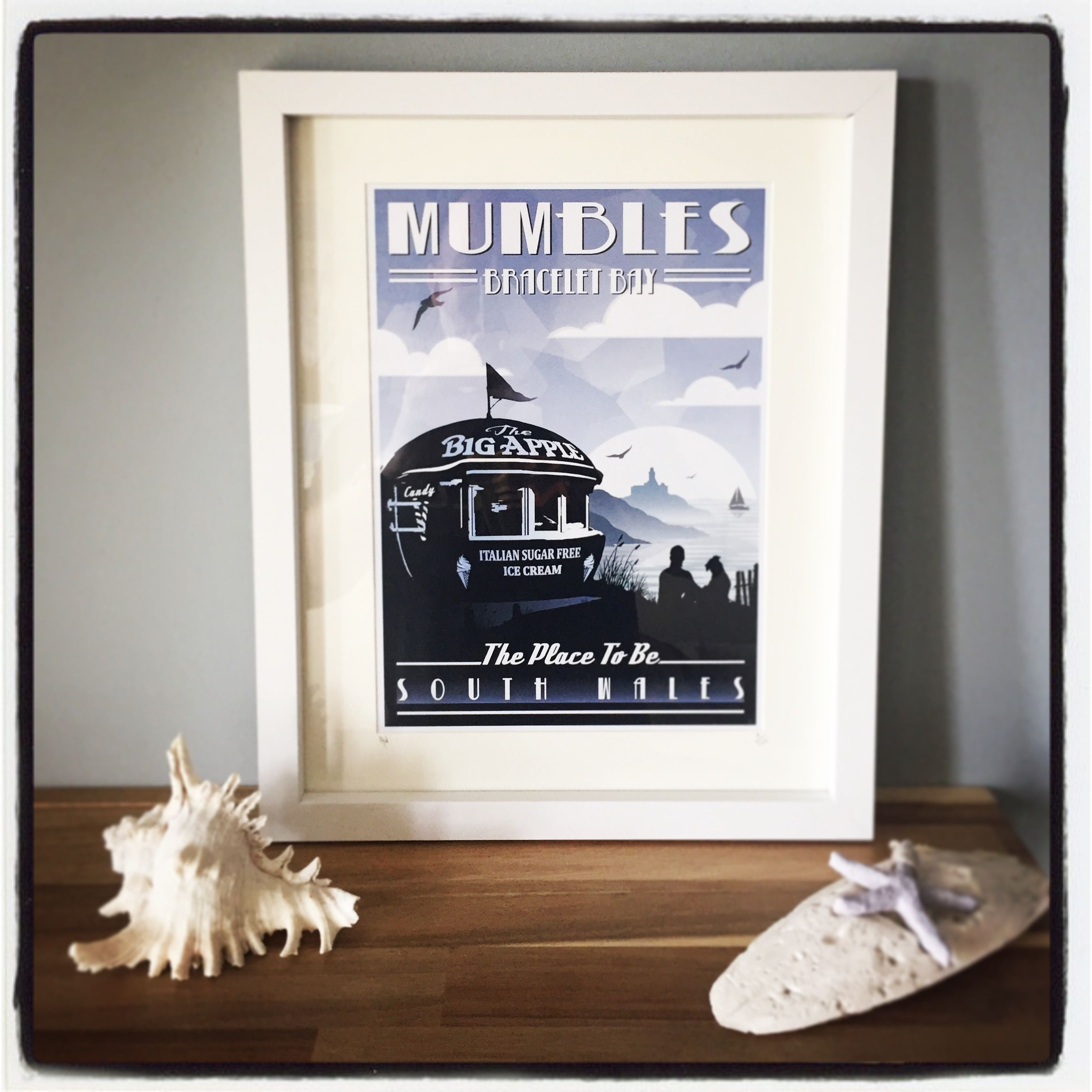 A4 Gower retro print ( Big Apple Mumbles ) Swansea South Wales ...