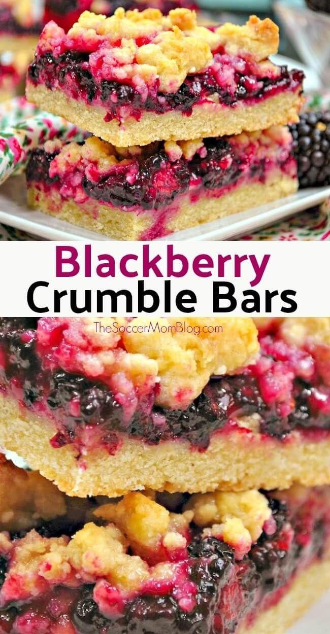 Blackberry Cobbler Bars – The Soccer Mom Blog