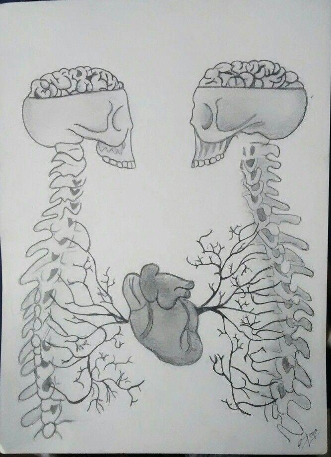 Art Drawin Skeleton Heart Blackandwhite Love Pencil Gris Esqueleto Corazon Lapiz Dibujo By Berenice Leyva C Dibujos Berenice Lapiz