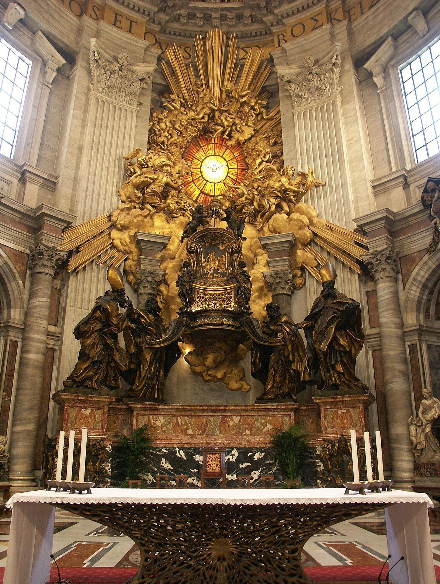 cathedra petri 1656 1666 gian lorenzo bernini baroque gian lorenzo bernini biography gian lorenzo bernini a notable architect great sculptor and prominent artist of was born on 1598 in