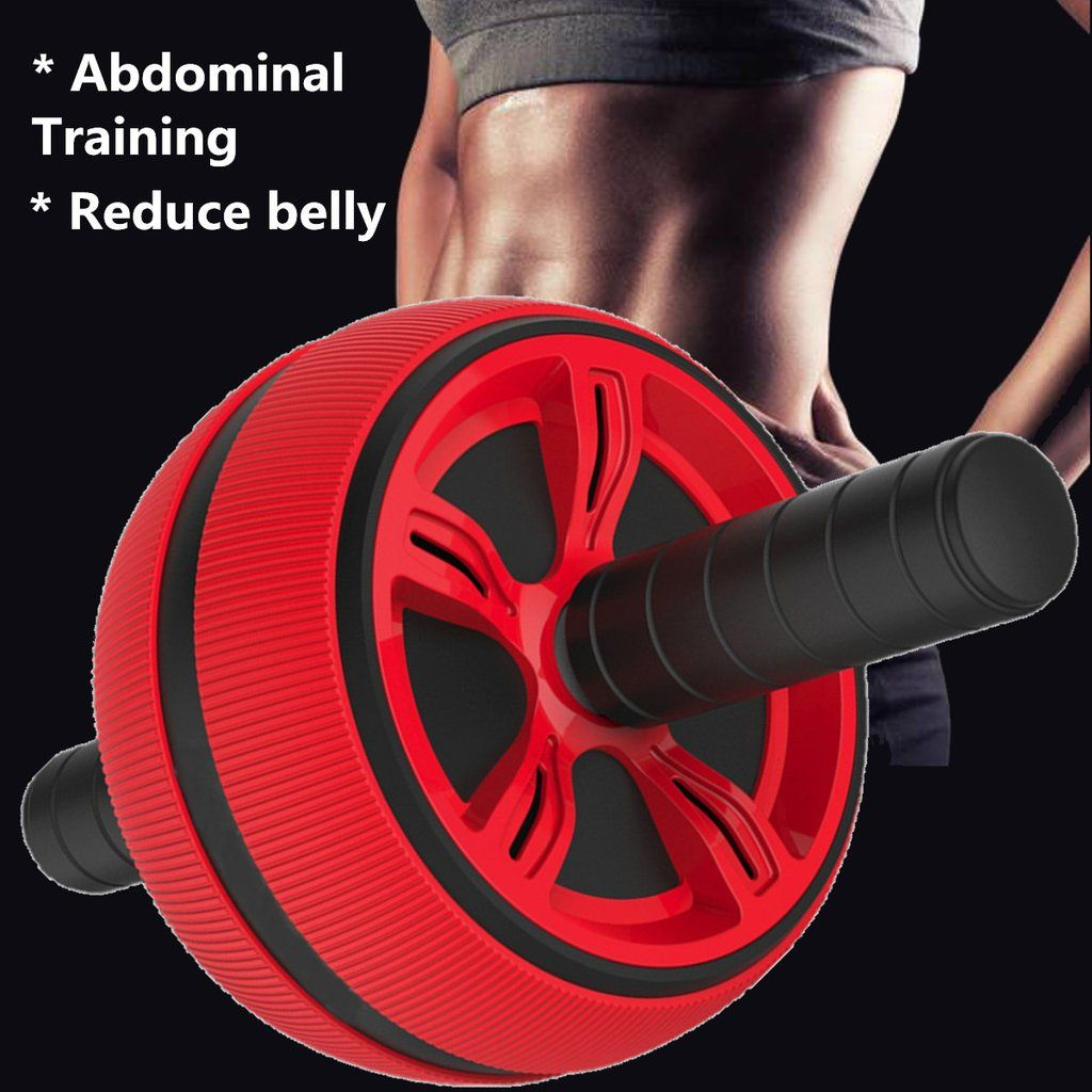 ABS Abdominal Roller Exercise Wheel Fitness Equipment Mute Roller For Arms Back