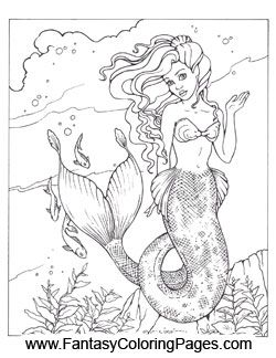 16 Beautiful Mermaids PDF Format And Sizeed For 85 X 11 Paper So They Are Coloring SheetsColouring