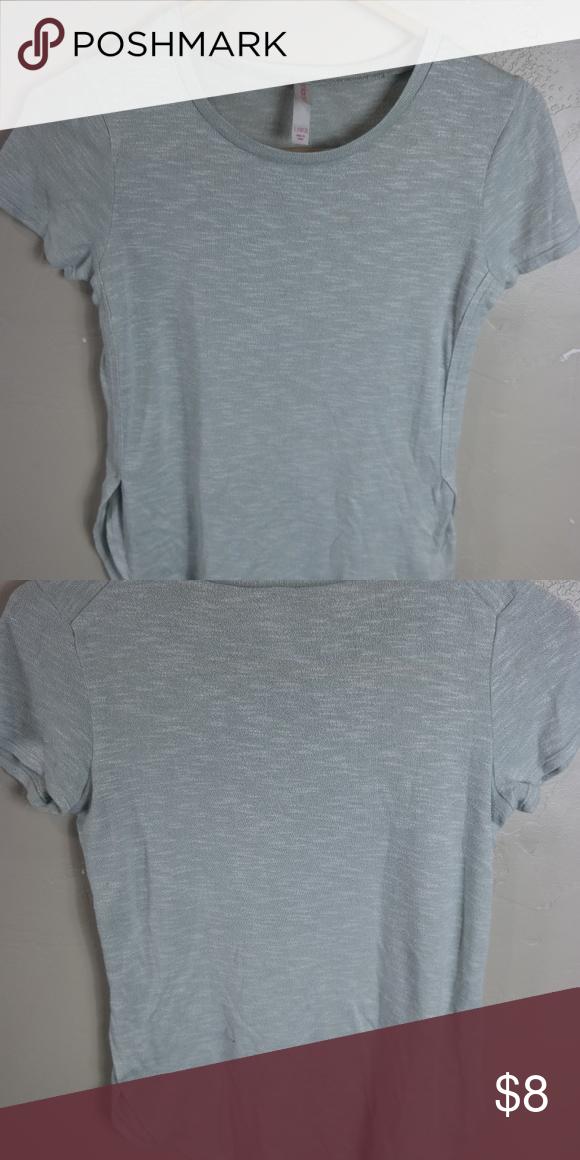d2ff7a0e Xhilaration shirt size large light blue/ light gray shirt size large 10/12. Xhilaration  Shirts & Tops Tees - Short Sleeve