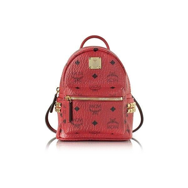 MCM Handbags Ruby Red X-Mini Stark Backpack ($705) ❤ liked on ...