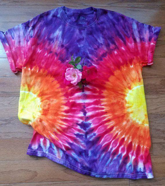 91e96534e Adult Medium Sunburst Tie Dye T-Shirt | Products | Tie dye, Tie dye ...