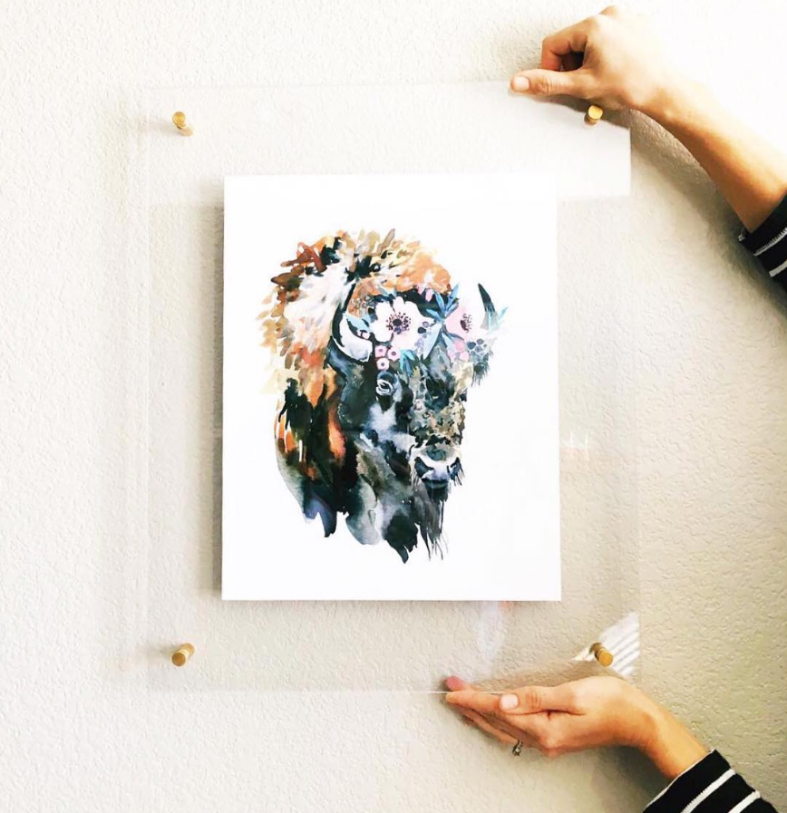 Acrylic Frame Highland Hardware Art Print Home