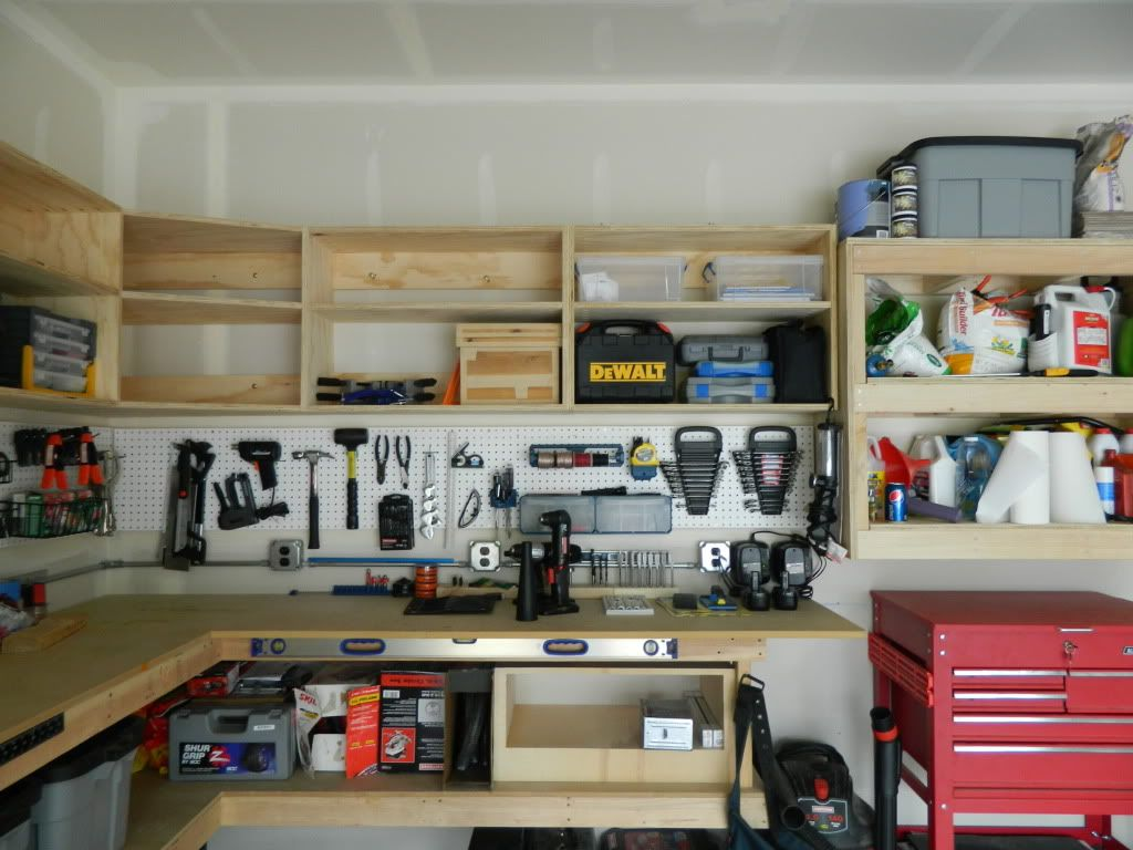 My DIY cabinets/shelves - The Garage Journal Board | Garage ...