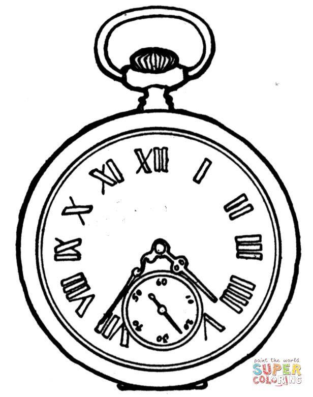 Dibujos Para Colorear Reloj De Bolsillo