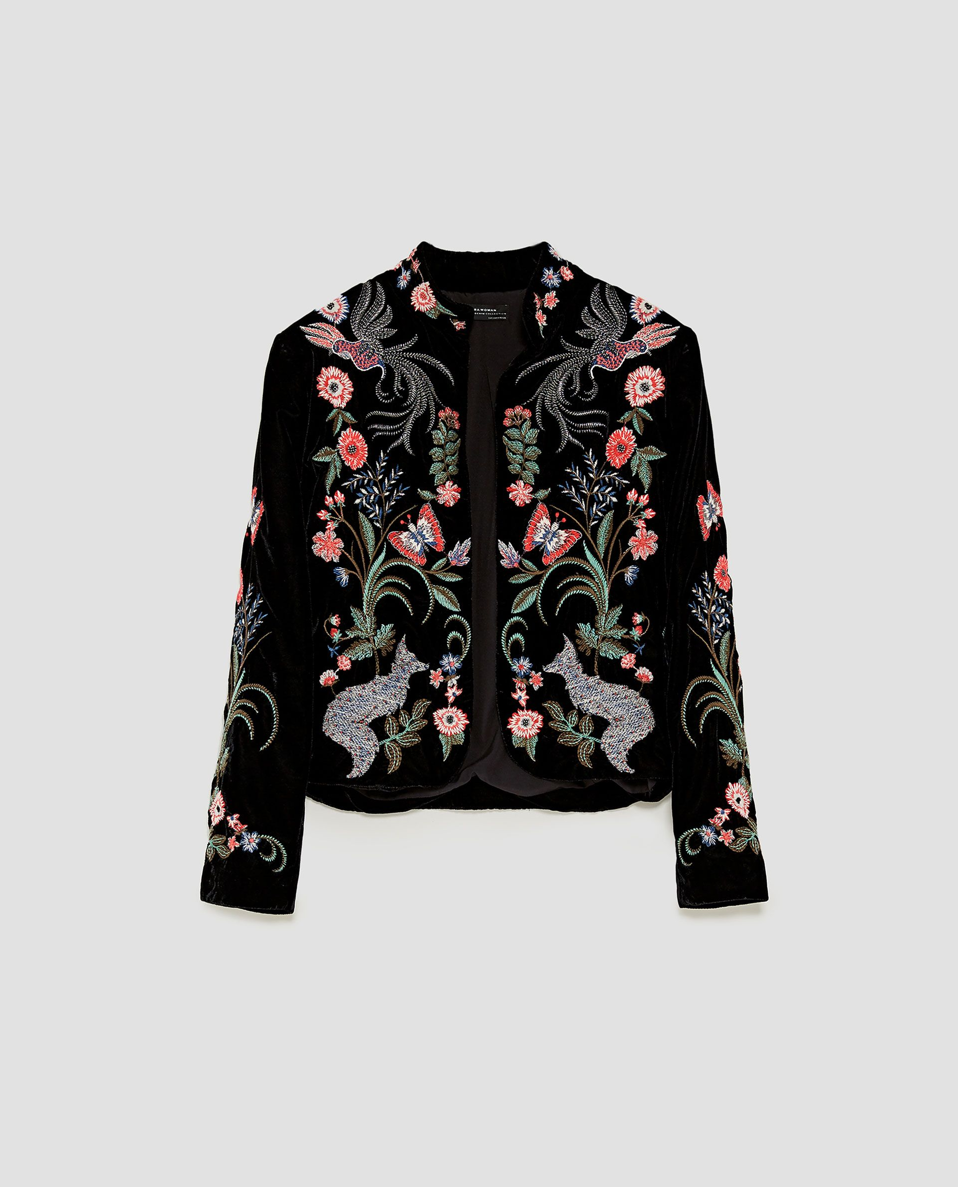 551c8afea06f EMBROIDERED VELVET JACKET from Zara | clothing (want). in 2019 ...