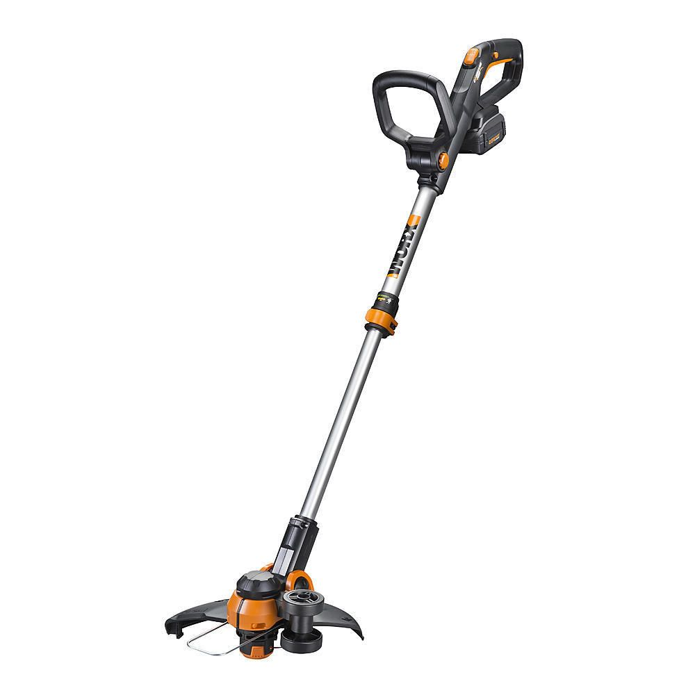 Wg180 Worx 40 Volt Max Li Ion 12 Cordless Grass Trimmer With Command Feed Voted Home Garden Seller Of The Trimmers Electric Leaf Blowers Outdoor Gardens