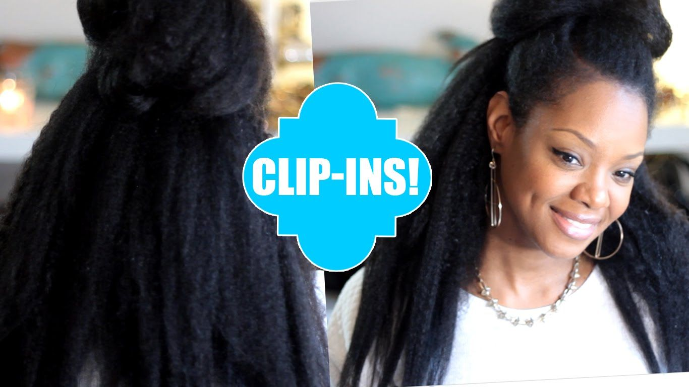 Natural Hair Blow Out Clip Ins Easy Knappy Extensions Review