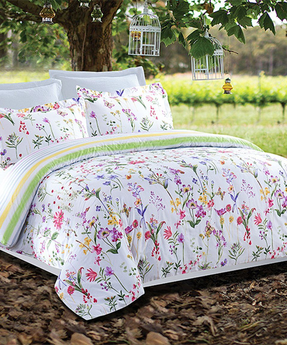 Take A Look At This Forever Spring Three Piece Duvet Cover