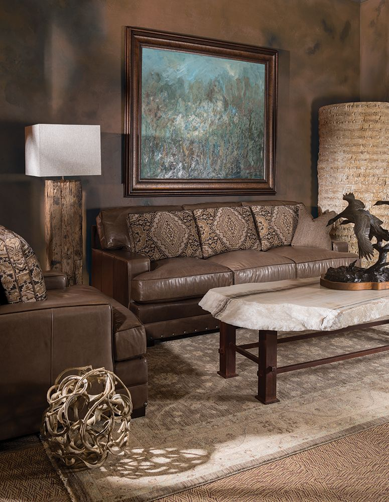 The Look Rustic Western Oasis Living Room Furniture In Houston And Dallas Best For Custom Built