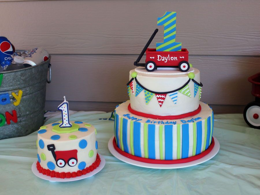 1st Birthday Little Red Wagon On Cake Central