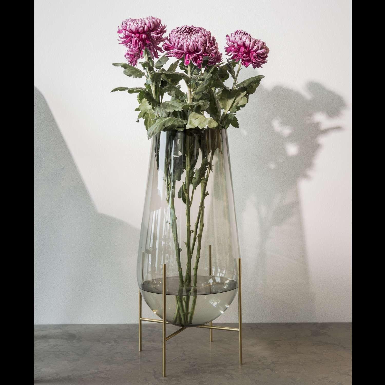 Echasse Floor Vase Glass floor vase, Glass vase, Vases decor