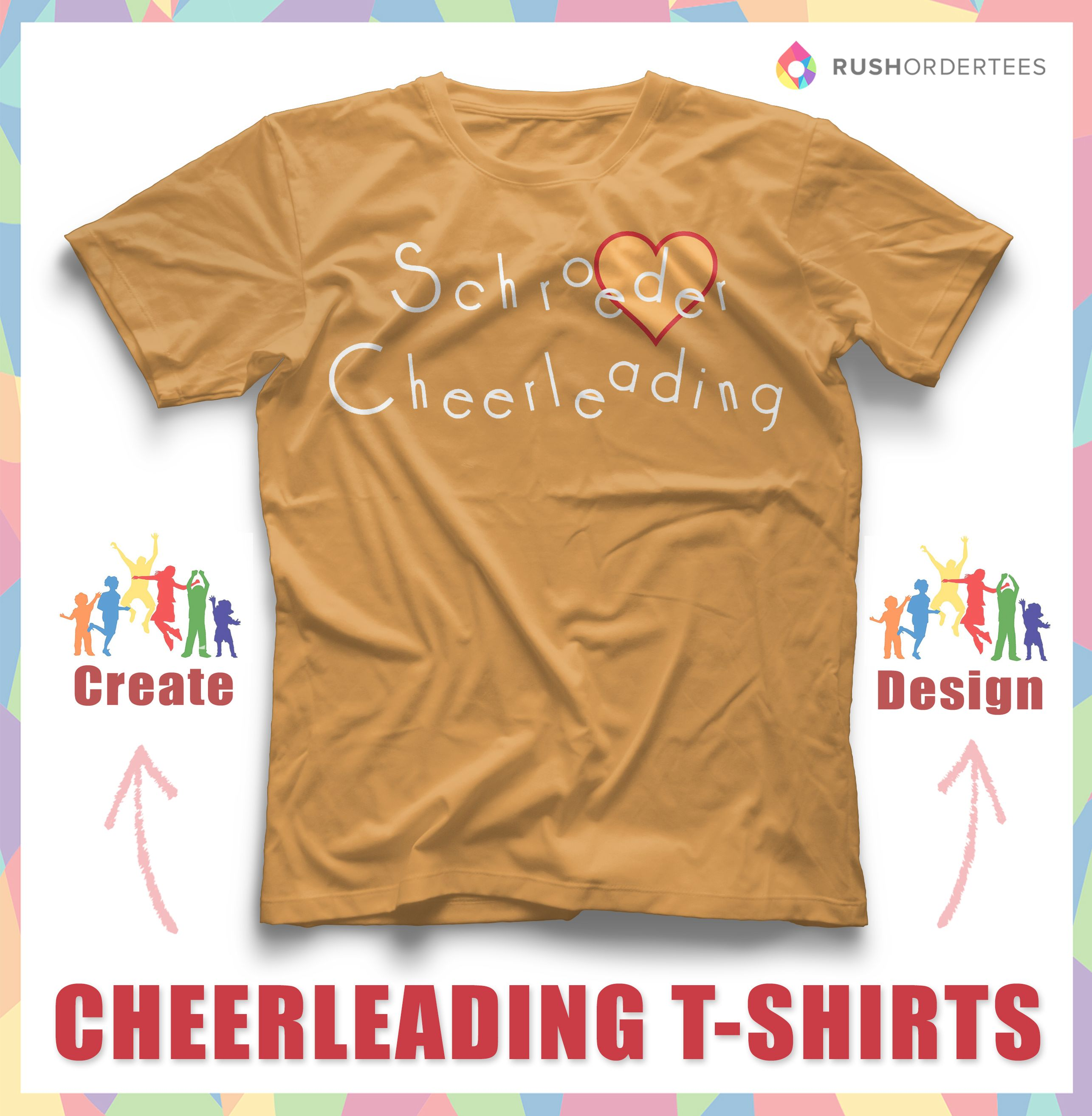Cheerleading Custom T Shirt Design Idea! Create A Cheerleading Shirt For  Your Next Event