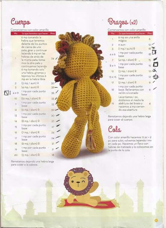 Leon amigurumi | Amigurumi | Pinterest | Crochet, Amigurumi and Leon