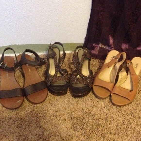 Bundle shoes size 7.5 Bundle pack on shoes. All 7.5,all super cute. Barely warn. All have some heel to them. Used but great condition. Shoes Heels