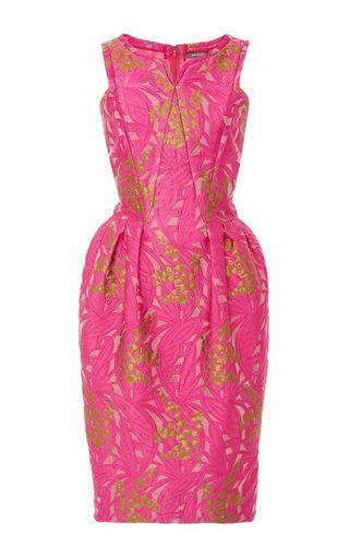 ccde2bdba53b This   Zac Posen   dress features a slight V-neck detail