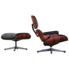 Vitra Charles Eames Lounge Chair And Ottoman In Rio Rosewood