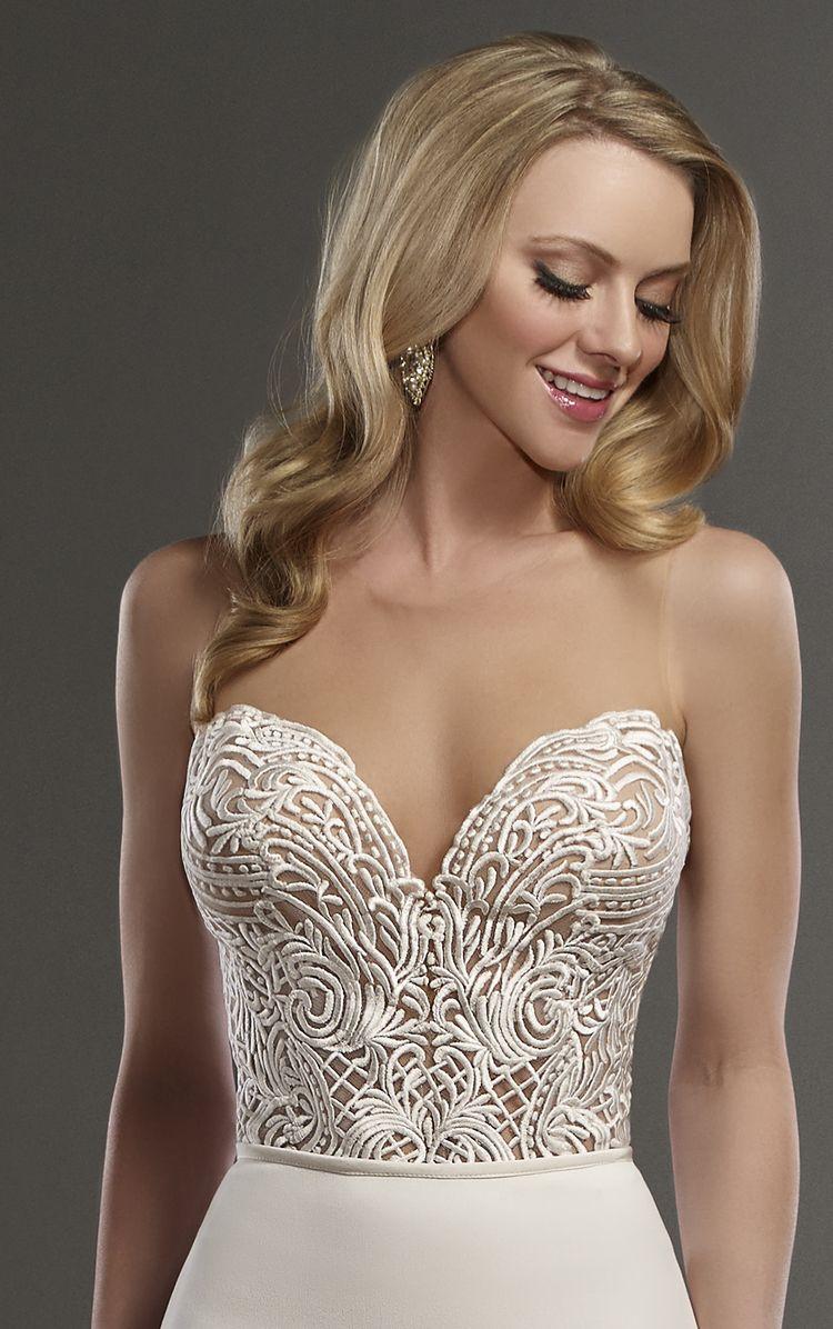 Wedding dress bodysuit  Bryce Bodysuit by Martina Liana Separates The Bryce bodysuit from