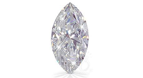 MARQUISE CUT RUSSIAN LAB DIAMOND 24 MM X 12 MM $110.00
