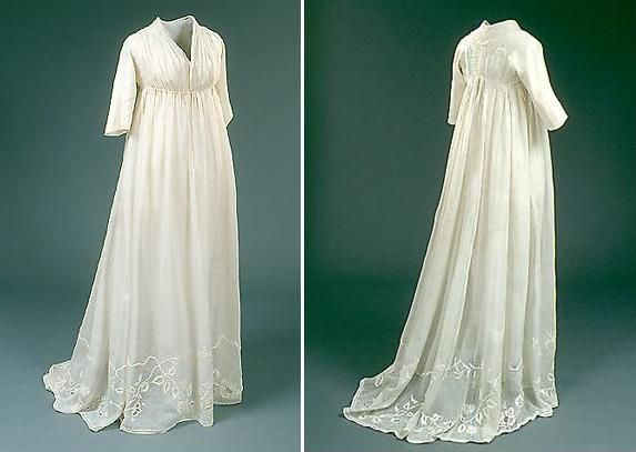 Late 18th century wedding dress