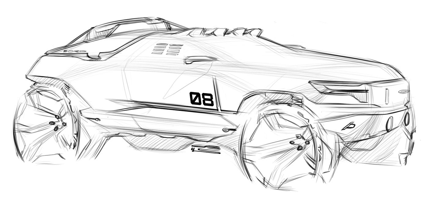 Car Design Sketches 6 On Behance Car Motorcycle Design