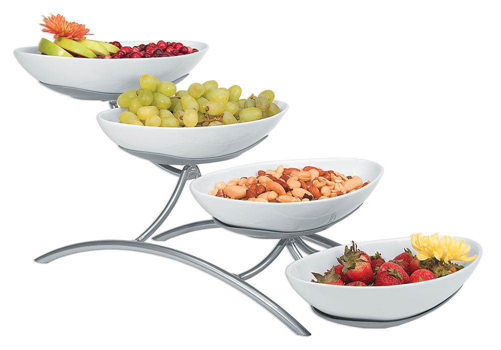 5 Piece Tiered Stand Set In 2020 Tiered Stand Food Displays