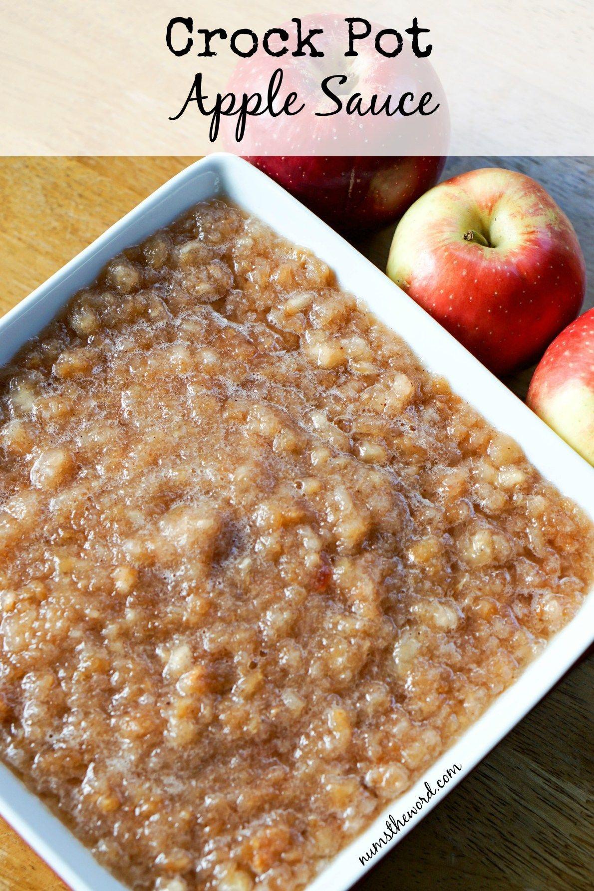 Crock Pot Apple Sauce Apple recipes, Food recipes, Baby