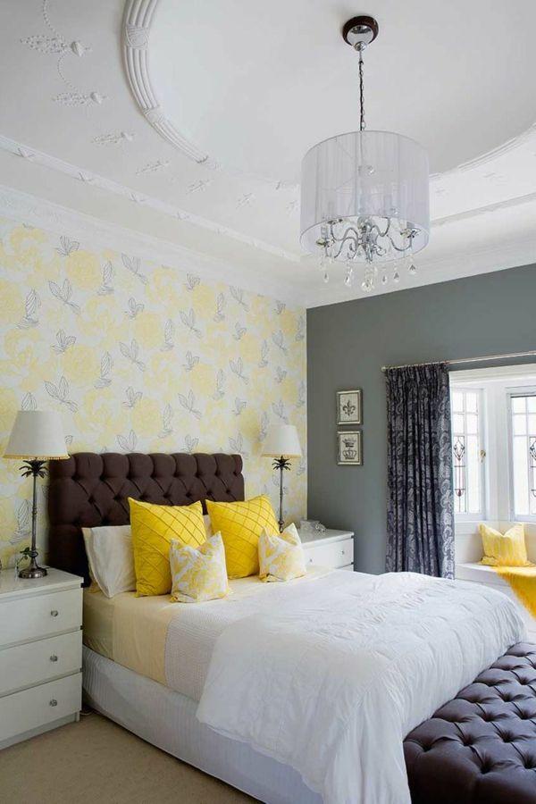 tapeten frisches wanddesign im schlafzimmer Wandgestaltung - tapeten design schlafzimmer