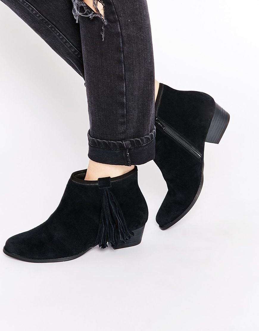 Buy Women Shoes / Miss Kg Sassy Black Tassel Ankle Boots