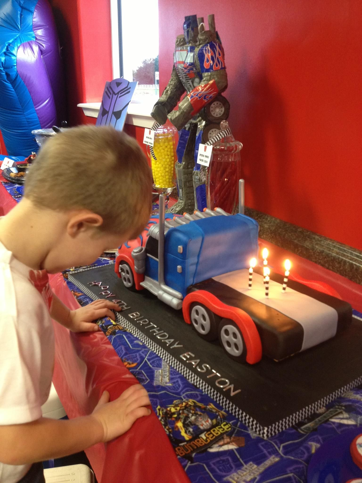 Pin By Maria A Samano On Eastons Birthday Party Cake Topper Tutorial Toy Car Birthday