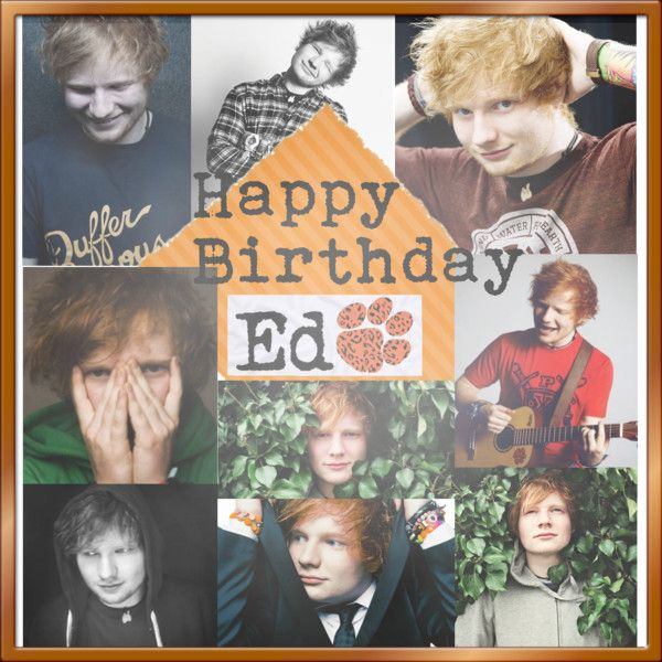 """Happy Birthday Ed Sheeran"" by hannahluvs1d ❤ liked on Polyvore"