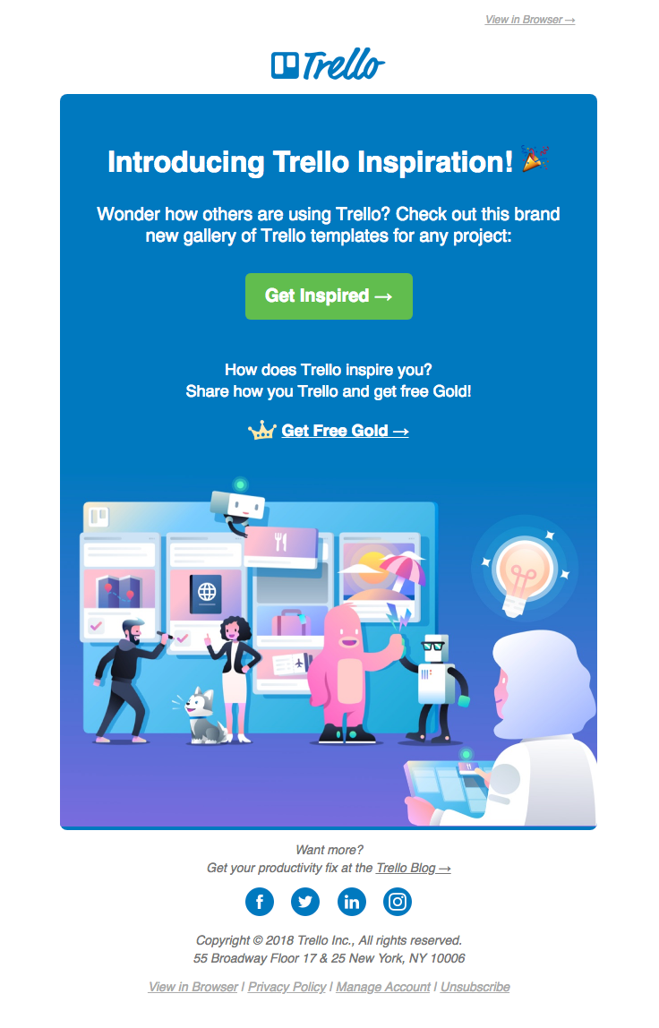 Trelloapp Sent This Email With The Subject Line Introducing Hundreds Of Trello Sample Boards Read About This Email And Find More Announcement Emails Pismo