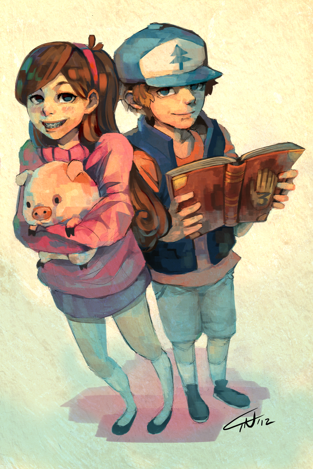 Images For > Gravity Falls Mabel And Dipper Anime