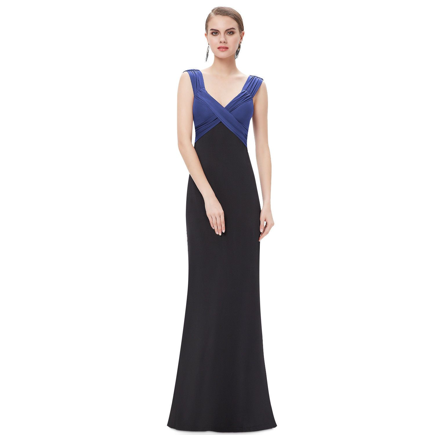 Awesome great sapphire blue bridesmaid prom evening wedding dresses