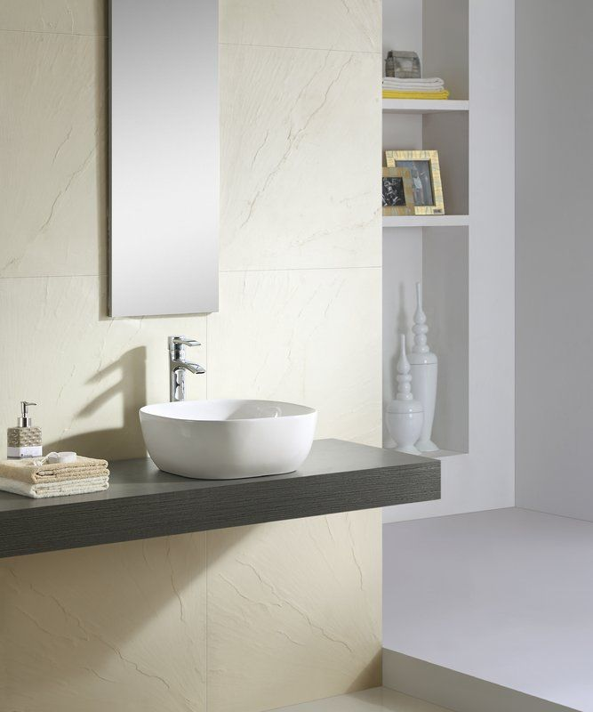 Ceramic Vitreous China Square Vessel Bathroom Sink