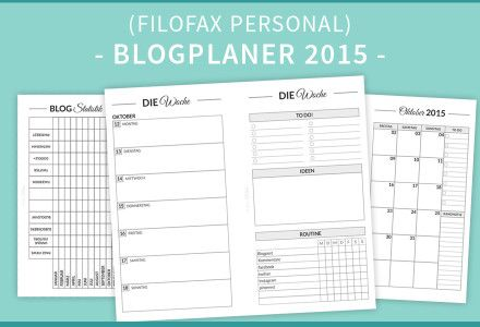 blogplaner 2015 filofax personal deutsch free. Black Bedroom Furniture Sets. Home Design Ideas