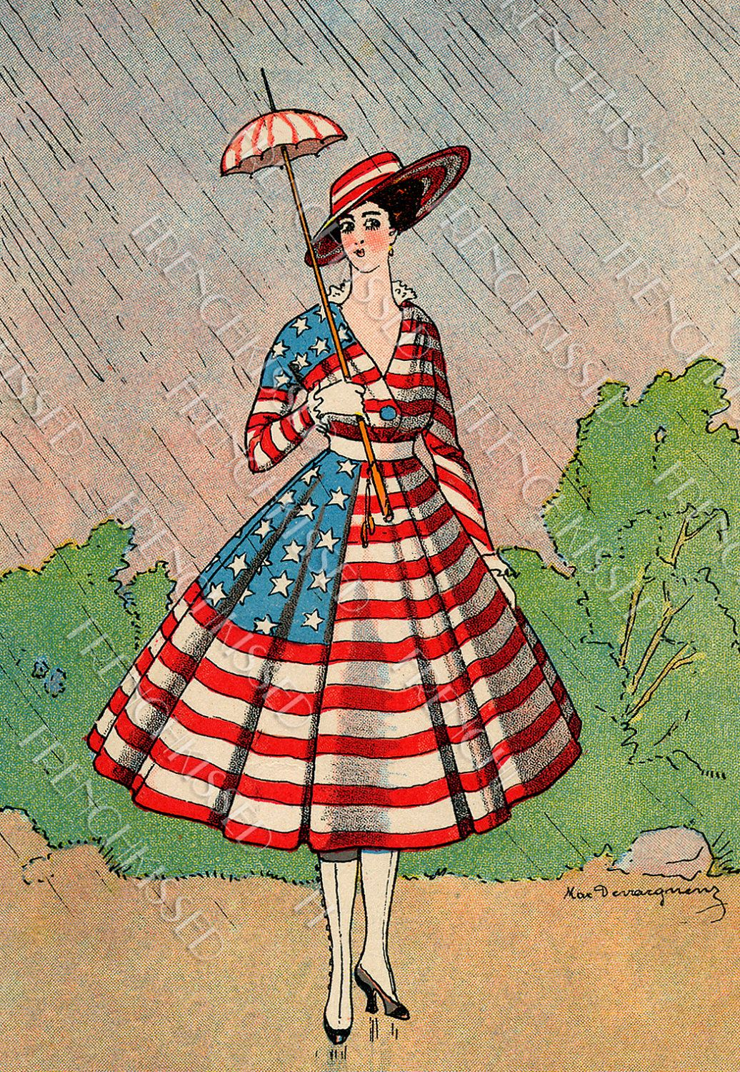 1940s Fashions In Red White Blue With Images: PATRIOTIC Fashion USA Flag Dress
