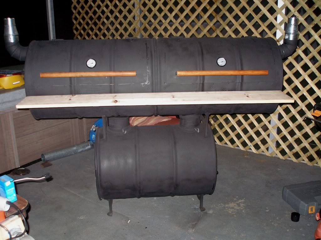 I built this outa three 55 gallon drums that were