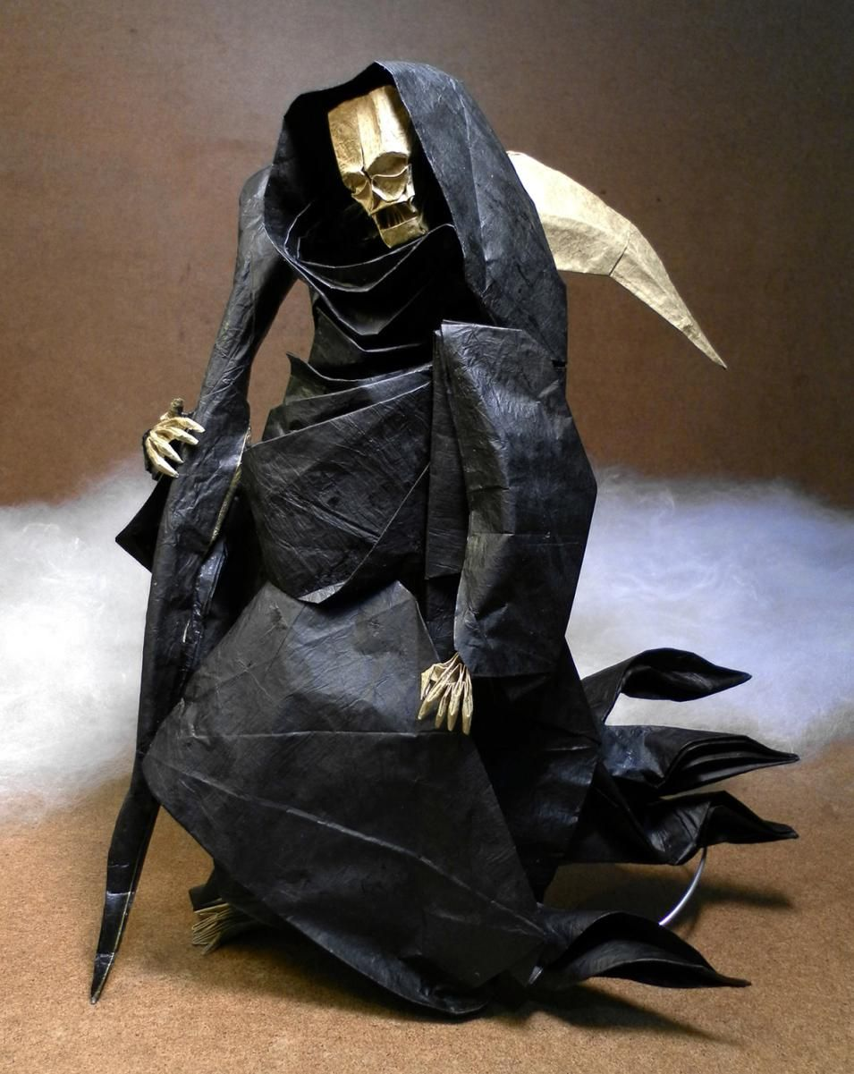3 Chillingly Awesome Origami Grim Reaper Models Folds Origami